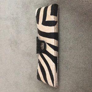Adrienne Vittadini Straw Clutch Purse Bag